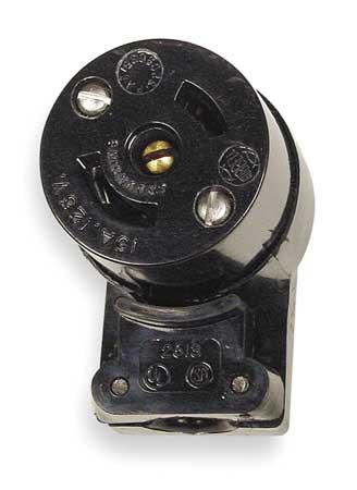 15A Midget Locking Angle Connector 2P 3W 120VAC