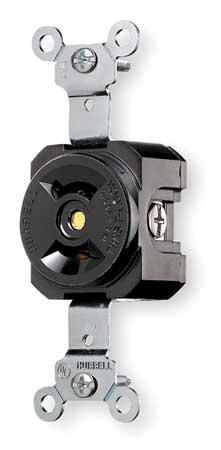 15A Locking Receptacle 2P 2W 125VAC L1-15R BK