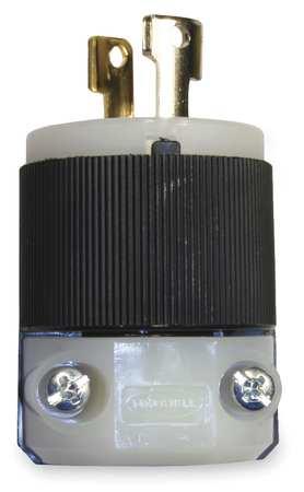 15A Locking Plug 2P 2W 125VAC L1-15P BK/WT