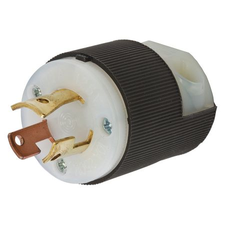 15/10A Locking Plug 3P 3W 125/250VAC BK/WT