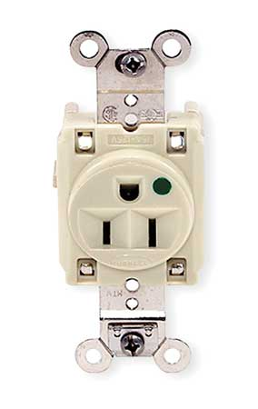 15A Single Receptacle 125VAC 5-15R IV