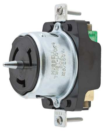 50A Locking Receptacle 3P 4W 480VAC BK