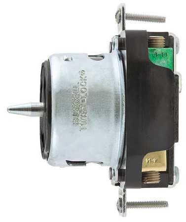 50A Twist-Lock Receptacle 3P 4W 250VAC BK