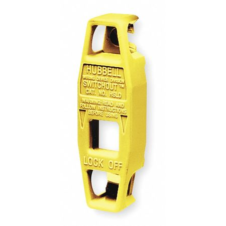 Toggle Swtch Lockout, Yellow., PK2