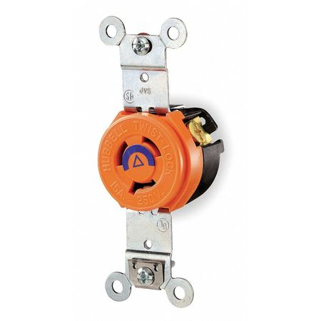 15A Isolated Ground Locking Receptacle 2P 3W 240VAC