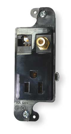 Receptacle, Voice/Data, 5-15R, 125V