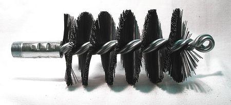 Flue Brush, Dia 2-3/4, 3/8MNPT, Length 8