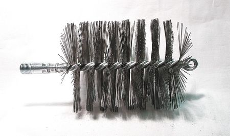 Flue Brush, Dia 3 1/2, 1/4 MNPT, Length 8