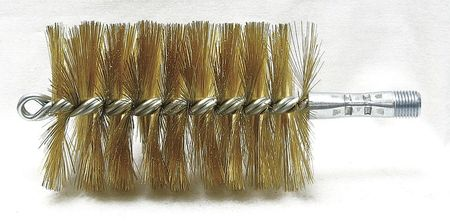 Tube Brush, Dia 3, 1/4 MNPT, Length 8