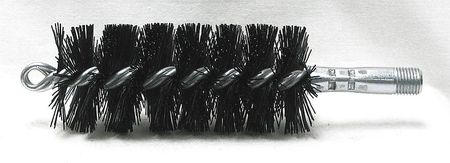 Tube Brush, Dia 2, 1/4 MNPT, Length 8