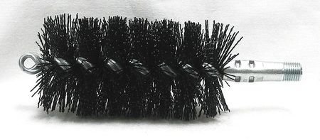 Tube Brush, Dia 2 1/2, 1/4 MNPT, Length 8
