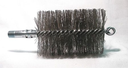 Flue Brush, Dia 3 1/4, 1/4 MNPT, Length 8