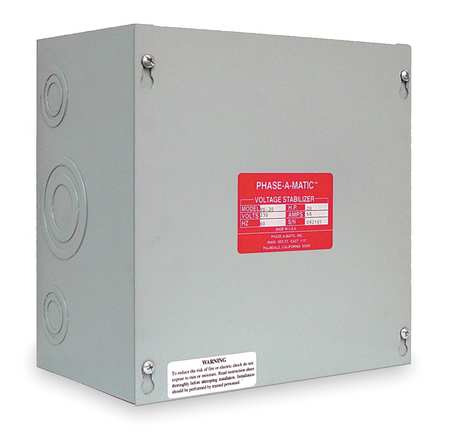 Voltage Stabilizer, Max Amps 13.9, 5 HP