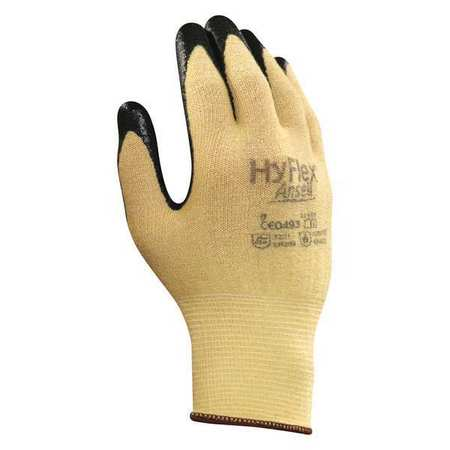 Cut Resistant Gloves, Yellow/Black, 2XL, PR