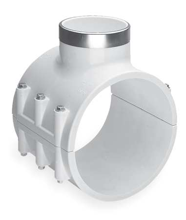 Saddle Clamp, Pipe 4 In, Outlet 1 1/2 In