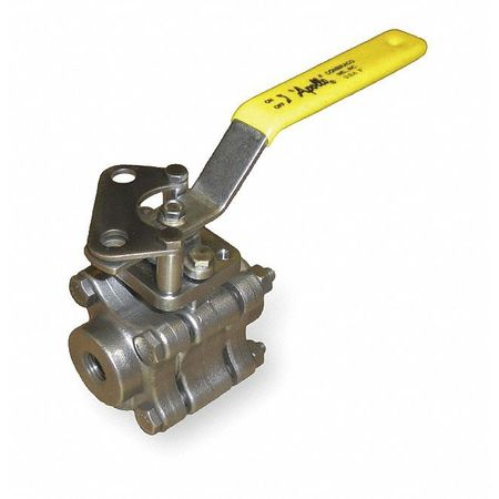 "1"" FNPT Stainless Steel Ball Valve Inline"