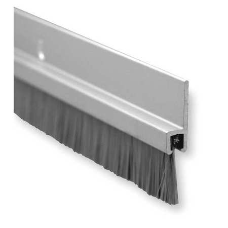 "3 ft. Anodized Aluminum Door Bottom Sweep with 5/8"" Brush Insert"