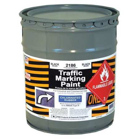 Zone Marking Paint, Black, 5 gal.