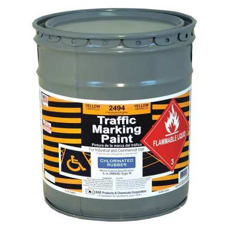 Zone Marking Paint, Yellow, 5 gal.