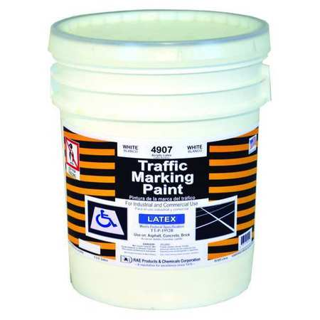 Traffic Zone Marking Paint, 18.9L, White