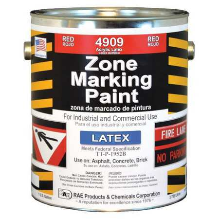 Zone Marking Paint, Red, 1 gal.