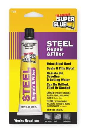 Steel Repair Cement, 1 oz Tube, Gray