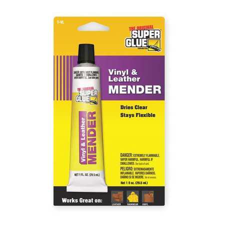 Vinyl/Leather Adhesive, 1 oz Tube, Clear