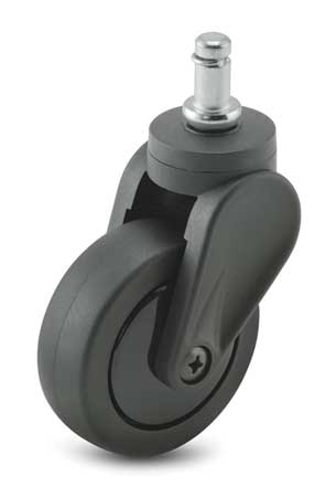 Swivel Stem Caster, Polyurthn, 4 in, 125 lb
