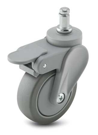 Swivel Stem Caster w/Brake, 4 in., 125 lb.