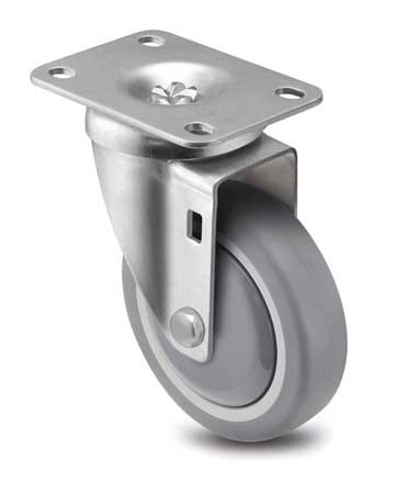 Swivel Plate Caster, 300 lb., Plate Type C