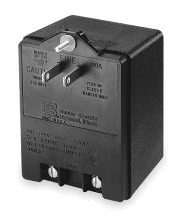 Plug-In Transformer, 120V In/24V Out, 35VA