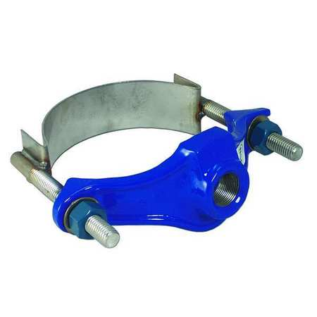 Saddle Clamp, 3 In, Outlet Pipe 1 1/4 In