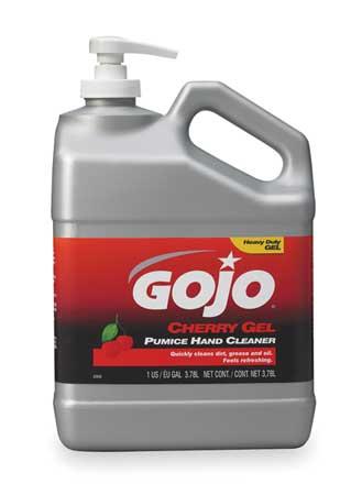GOJO Gel Hand Cleaner, Cherry, Red, Pump Bottle