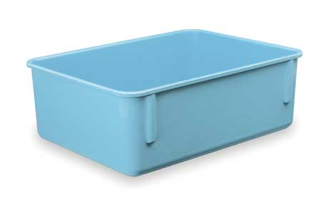 Nesting Container,  9 7/8 In L,  75 Lb.,  Blue