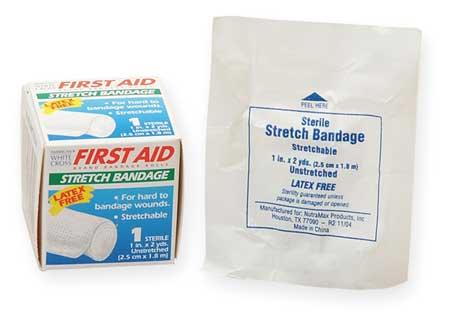 Stretch Bandage, Sterile, White, Gauze, Bulk