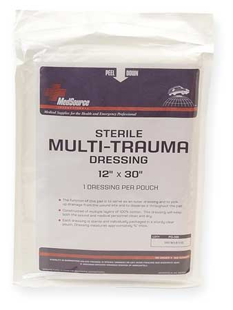 Multi-Trauma Dressing,  Sterile,  White,  Bulk