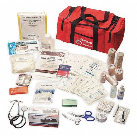 Trauma Kit, Medium, Red, Nylon