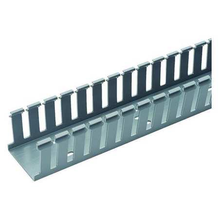 Wire Duct, Wide Slot, Gray, 1.26 W x 3 D