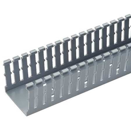Wire Duct, Narrow Slot, Gray, 1.26 W x 1 D