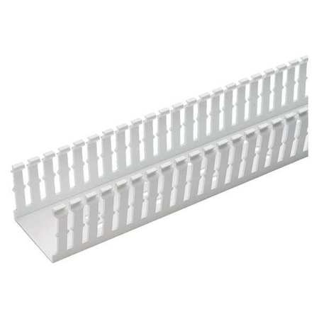 Wire Duct, Narrow Slot, White, 4.25 W x 3 D