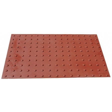 Retrofit ADA Warning Pad, Brick Red, 4x2ft