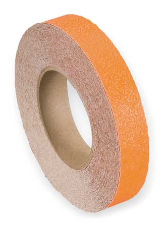 Anti-Slip Tape, Safety Orange, 1 in x 60ft