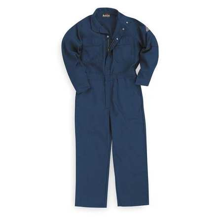 Flame-Resistant Coverall, Navy, XL, HRC1
