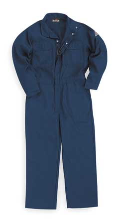 Flame-Resistant Coverall, Navy, 3XL, HRC1