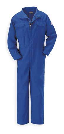 Flame-Resistant Coverall, Royal Blue, XL