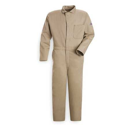 Flame Resistant Contractor Coverall,  Khaki,  4XL