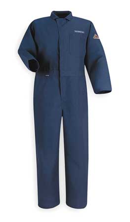 FR Contractor Coverall, Navy, XL, HRC1