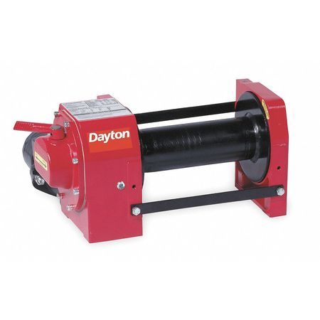 Hydraulic Winch, 9000 lb, 3/8 In, 12 gpm