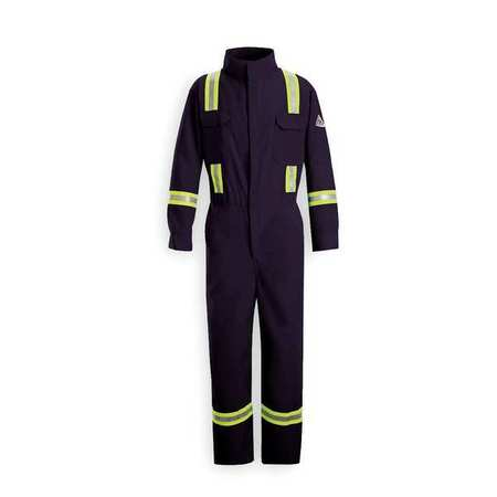 FR Coverall, Reflective Trim, Navy, XL, HRC1