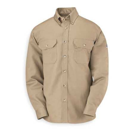 FR Long Sleeve Shirt, Khaki, 2XLT, Button